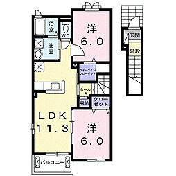 ルミナーレ[2階]の間取り