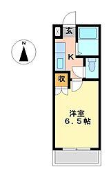 栃木県宇都宮市簗瀬町の賃貸マンションの間取り