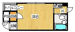 レジデンス人見[2階]の間取り