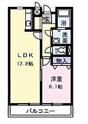 大阪府堺市中区土塔町の賃貸アパートの間取り