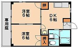 サンクレ−ジュⅠ[1階]の間取り