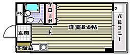 ベルフラット永山[2階]の間取り