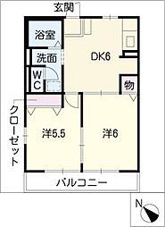 アフィニティーA棟[1階]の間取り