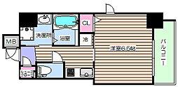 アクアプレイス梅田5[2階]の間取り