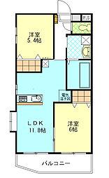 コンフォートマンション[203号室]の間取り