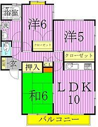 東京都足立区綾瀬4丁目の賃貸アパートの間取り