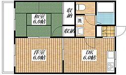 ルミエール昭島[3階]の間取り