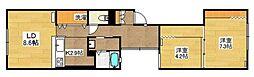 Y Flat[4階]の間取り