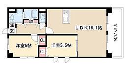 愛知県名古屋市緑区鳴海町字神ノ倉3丁目の賃貸マンションの間取り