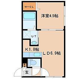 北海道札幌市北区麻生町2丁目の賃貸マンションの間取り