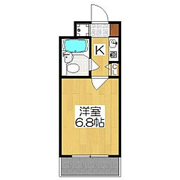 【分譲】DETOM−1西陣Ⅲ[309号室]の間取り