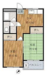 藤コーポ[3階]の間取り