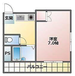 シーサイドマンション[5階]の間取り