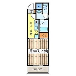 グレース川崎III[101号室]の間取り
