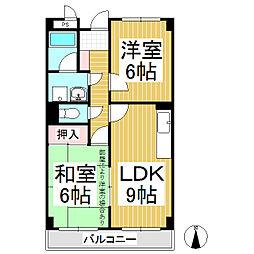 リンピアワッセナー[4階]の間取り