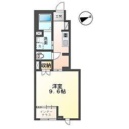 仮)小原田新築アパート 1階1Kの間取り