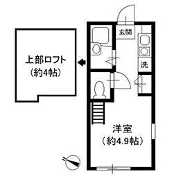 神奈川県川崎市多摩区西生田3の賃貸アパートの間取り
