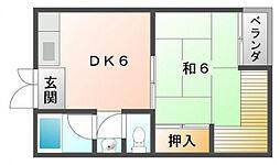 第1寝屋川コーポラス[5階]の間取り