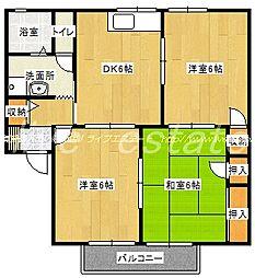 セジュール蜂須賀B棟[2階]の間取り