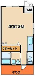 第2ハイツフジ[1階]の間取り