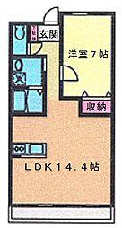 宮城県仙台市泉区市名坂字新道の賃貸マンションの間取り
