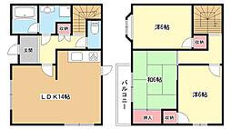 [テラスハウス] 大阪府豊中市向丘2丁目 の賃貸【大阪府 / 豊中市】の間取り