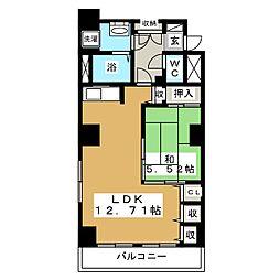 レジデンスカープ札幌[12階]の間取り