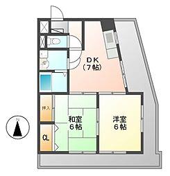エステート2[3階]の間取り