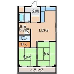 シャトー太田[2階]の間取り
