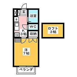 カインドハイツ 御木本[1階]の間取り