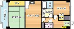 陣山スカイマンション[4階]の間取り