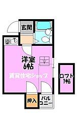 川辺ビル288[4階]の間取り