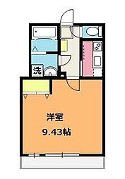 埼玉県上尾市弁財2丁目の賃貸アパートの間取り
