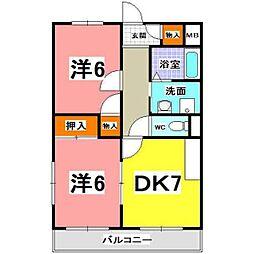 JR東海道・山陽本線 明石駅 バス13分 王塚台5下車 徒歩7分の賃貸マンション 3階2DKの間取り
