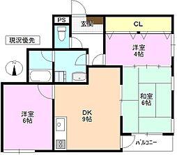 長野県上田市常田2丁目の賃貸アパートの間取り