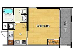 Lakas Fushimi (ラカーシュ伏見)[3階]の間取り