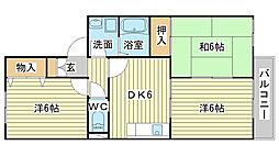 メゾン高須[201号室]の間取り