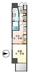エステムプラザ名古屋駅前プライムタワー[11階]の間取り