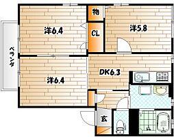アメニティ21 A棟[2階]の間取り