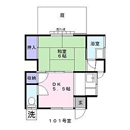 小島荘[1階]の間取り