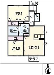 仮)D−room京和風穂波町II[1階]の間取り