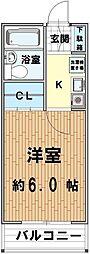 シティ川越[305号室]の間取り