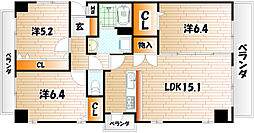 THE SQUARE Suite Residence[6階]の間取り