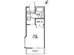 アクアアパート堀之内[1階]の間取り