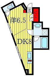 駒込テラス 1階1DKの間取り