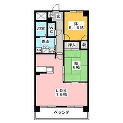 佳千ビルIII(カセンビルIII)[6階]の間取り