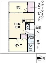 カーサSK[1階]の間取り