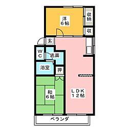 ハートピア春日井B[2階]の間取り