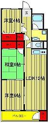 新松戸コーポ A棟 607号室[607号室]の間取り