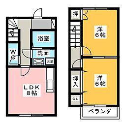 [テラスハウス] 静岡県浜松市西区舞阪町弁天島 の賃貸【/】の間取り